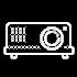 beamer videotechnik veranstaltung icon weiß